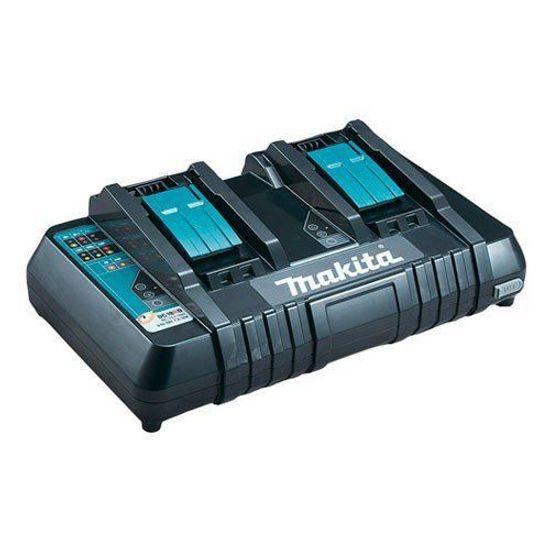 Carregador-de-Bateria-Duplo-com-Entrada-USB-para-Baterias-DC18-RD---196937-8---Makita---220-Volts