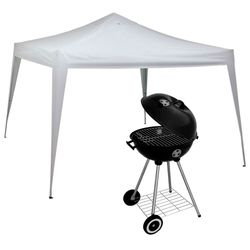 Kit-Gazebo-X-Flex-Oxford-com-Silvercoating-3m-x-3m---Churrasqueira-Esmaltada-a-Bafo-Guarapari-46cm-0