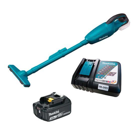 Kit-Aspirador-de-Po-a-Bateria-DCL180Z-e-Bateria-18V-3.0Ah-e-Carregador-Makita