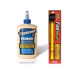 Kit-Cola-para-Madeira-II-Premium-Wood-Glue-237-ml---Pincel-de-Silicone-Titebrush