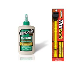 Kit-Cola-para-Madeira-III-Ultimate-Wood-Glue-237ml-Pincel-de-Silicone-Titebrush