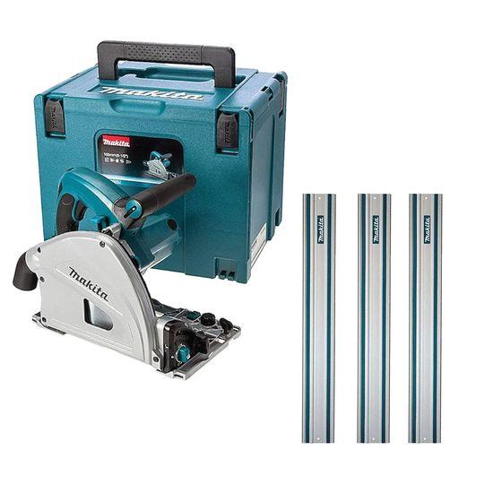 Kit Serra Circular Manual 165mm 1.300W C/Maleta SP6000J +3 Trilhos 1metro Makita 220 Volts