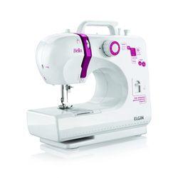 Máquina de Costura Portátil Bella Elgin Branco Bivolt
