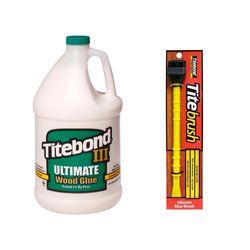 Kit Cola para Madeira III Ultimate Wood Glue 4,1kg+Pincel de Silicone Titebrush
