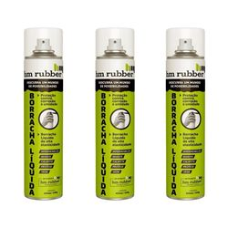 Kit 3 Borrachas Líquida em Spray Aerossol Hm Rubber 400 ml Branco