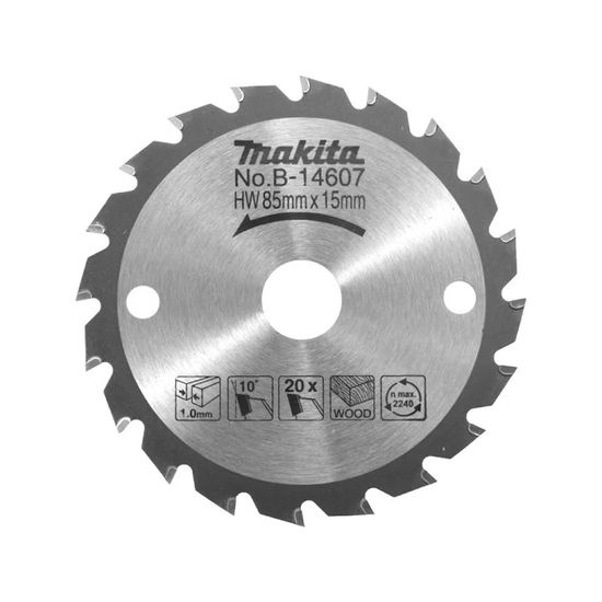 Disco de Serra TCT 85mm 20 Dentes Para HS300D e HS301D  B-14607 Makita