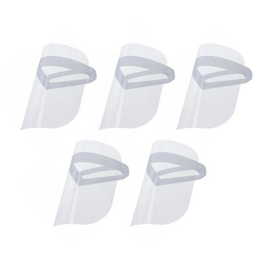 Kit 5 Máscaras Protetor Facial com Visor Transparente Face Shield